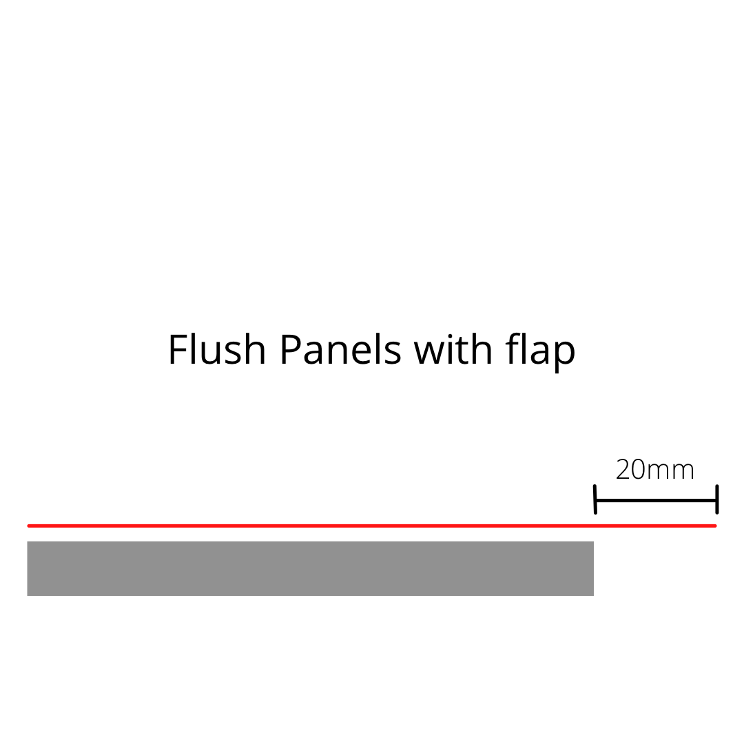 Flush Panels With Flag